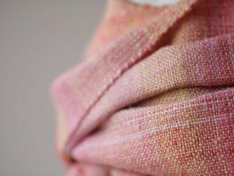 真綿シルクマフラー 草木染 160902の画像