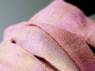真綿シルクマフラー 草木染 161004の画像