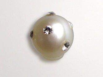本真珠のピアスキャッチ(スワロフスキー入り)の画像