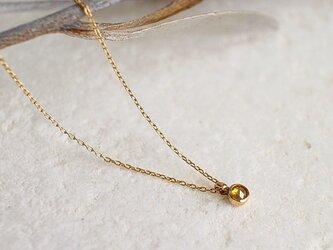 【送料無料】ローズカット イエローダイヤモンド 一粒 ネックレス【n_k14_006】の画像