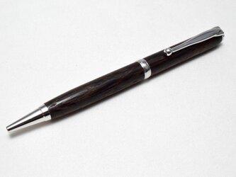 [再出品]【鉄刀木】手作り木製ボールペン スリムライン CROSS替芯の画像