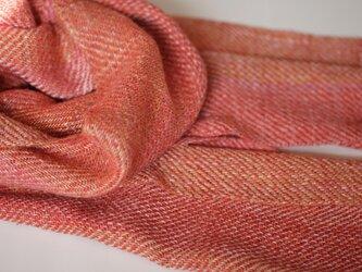 真綿シルクマフラー 草木染 161001の画像