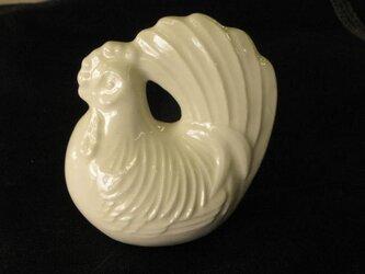 ポーセリンアート 白磁, 鶏の画像