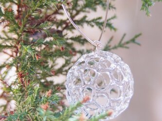 Christmas ornaments by recycled glass (3 balls)の画像