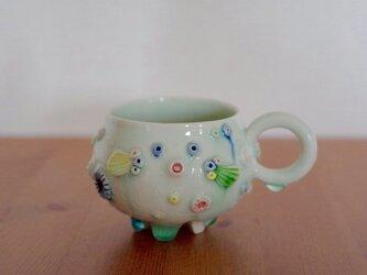 【再販】ふぐMUGカップ(白青)の画像