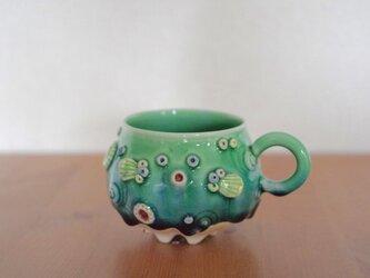 【再販】ふぐMUGカップ(青緑) の画像