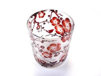 梅と鶯の春恋グラスの画像
