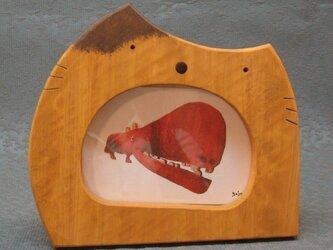 ねこ額、ねこ鏡の画像
