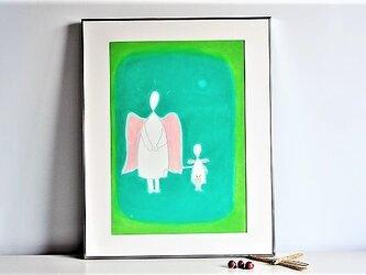 親子天使の画像