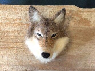 ウールの狼ブローチ ( 再出品 )の画像