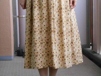 特別セール♥ちりめんの着物リメイクスカートの画像