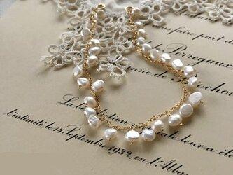 パールのつぶつぶブレスレット| pearl bracelet(K14GF)の画像