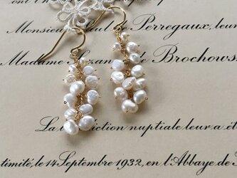 パールのつぶつぶピアス : Long| pearl pierce(K14GF)の画像