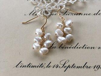 パールのつぶつぶピアス : short| pearl pierce(K14GF)の画像