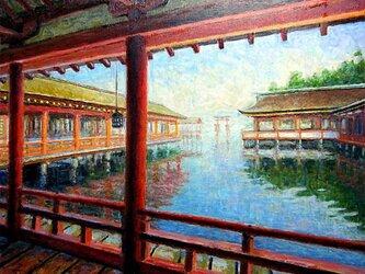 嚴島神社の回廊の画像