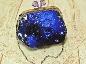 星に願いを☆宇宙がま口 【蓄光/暗い所で光ります☆】 X'masプレゼントにも♪の画像