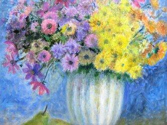 初秋の花とラ.フランスの画像