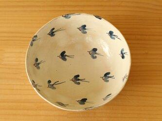 ※受注制作 粉引きの幸せの青い鳥のサラダボウル。の画像