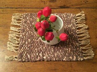 kazenoneko【風の猫】の裂き織ミニマット【カディ】の画像