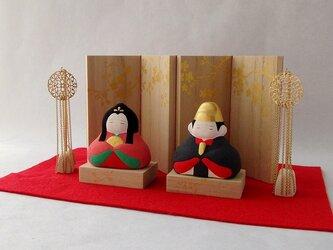 【お雛様】 冨久桃 親王飾りセットの画像
