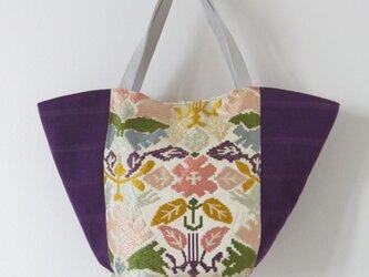 若松華瑶謹織袋帯のトートバッグの画像