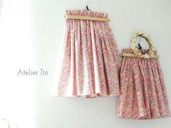 Liberty : Kaylie sunshine  姉妹リンク:チュチュみたいなふわふわ春スカート(150cm+140cm)の画像