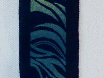 (巾狭くお洒落に★)藍染め動きがあり・・‼の画像