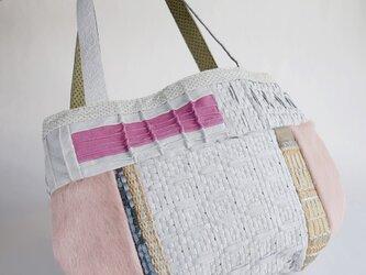 カラフルレザーバッグ ピンクの画像