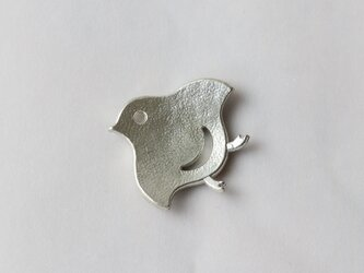 ちどりのカタチの錫の箸置き  [ ちどりがね ]の画像