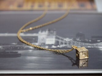 【再販】dice ! サイコロ一粒ネックレスの画像