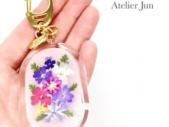 押し花キーホルダー(ダエン型)の画像