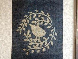 藍染タペストリー(酉)の画像
