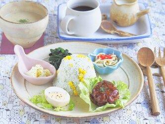粉福(こふく)リム皿-ミート-の画像
