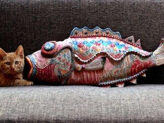 彩門縄文様歌舞伎仕立大金目鯛の画像
