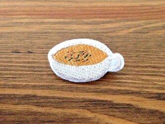 刺繍ブローチ 「オニオンスープ」の画像