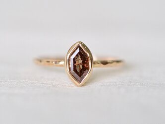 Champagne Brown Marquis Diamond Ringの画像