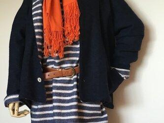 ウールニットジャケット&ワンピース セットの画像