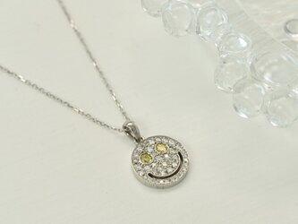 K18WG ダイヤモンド0.25ct パヴェスマイルネックレスの画像