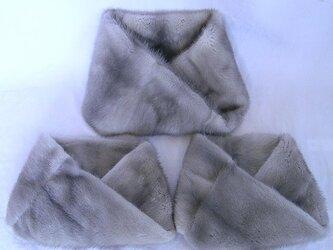 ¶ new antique fur ¶ リメイクオーダー たんすに眠るファーハーフコート⇒nejiriスヌード{受注中}の画像