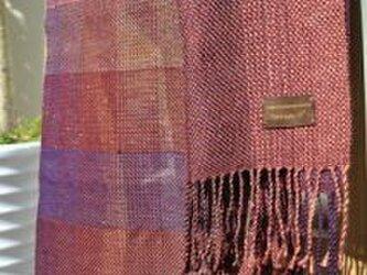 ストール 「臙脂~紫」の画像