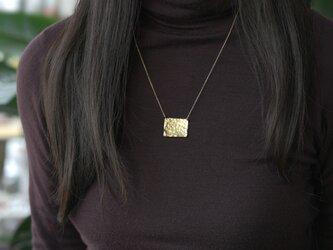 ゴールドスクエアプレート・ネックレス ~Giustinaの画像