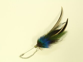 feather hatpin [peacock+brown]の画像