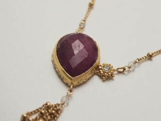moonlight necklace gd ruby【FN221】の画像