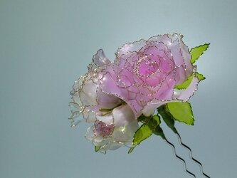 薔薇の簪(二本ざし)の画像