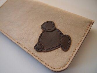 長財布□long wallet□犬□レザー□小銭入れが外せるシリーズ□アイボリーの画像