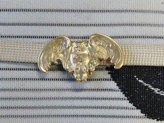 真鍮ブラス製 梟(ふくろう)型帯留め 着物や浴衣の帯締め飾り・ブレスレット飾りにの画像