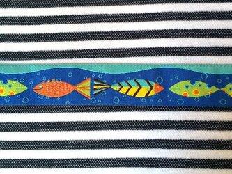 アメリカデザイン 刺繍リボン1ヤード-魚の学校の画像