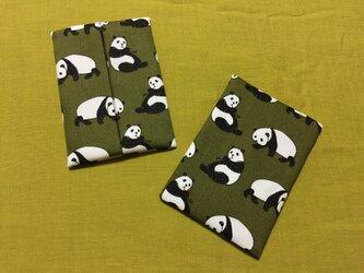 ポケットティッシュケース パンダの画像