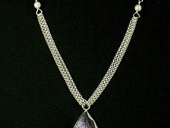 紫金石のネックレス2の画像