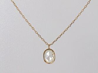 Rosecut Diamond Necklace / Ovalの画像